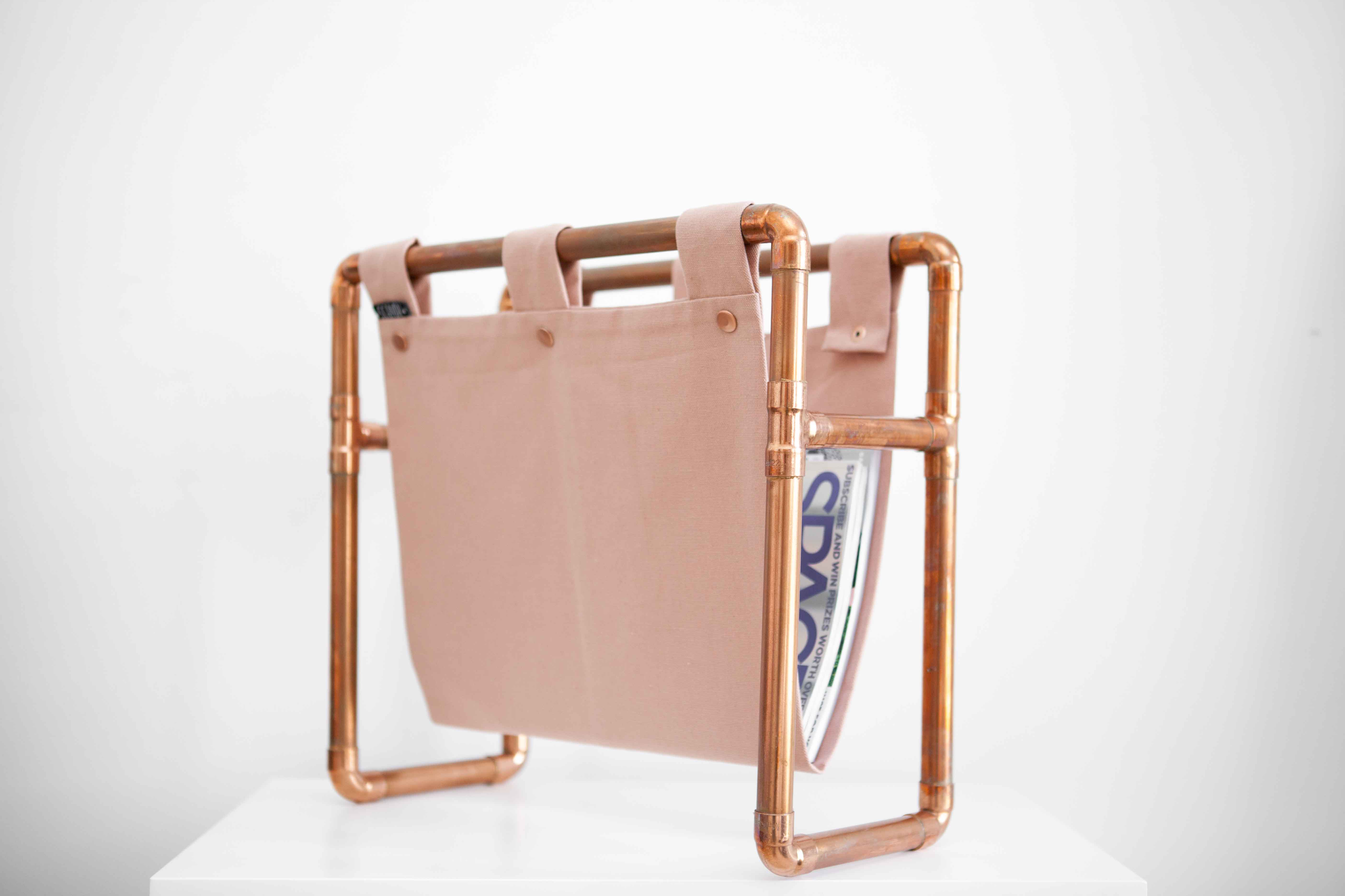 Copper Magazine Rack Scandi Home Decor