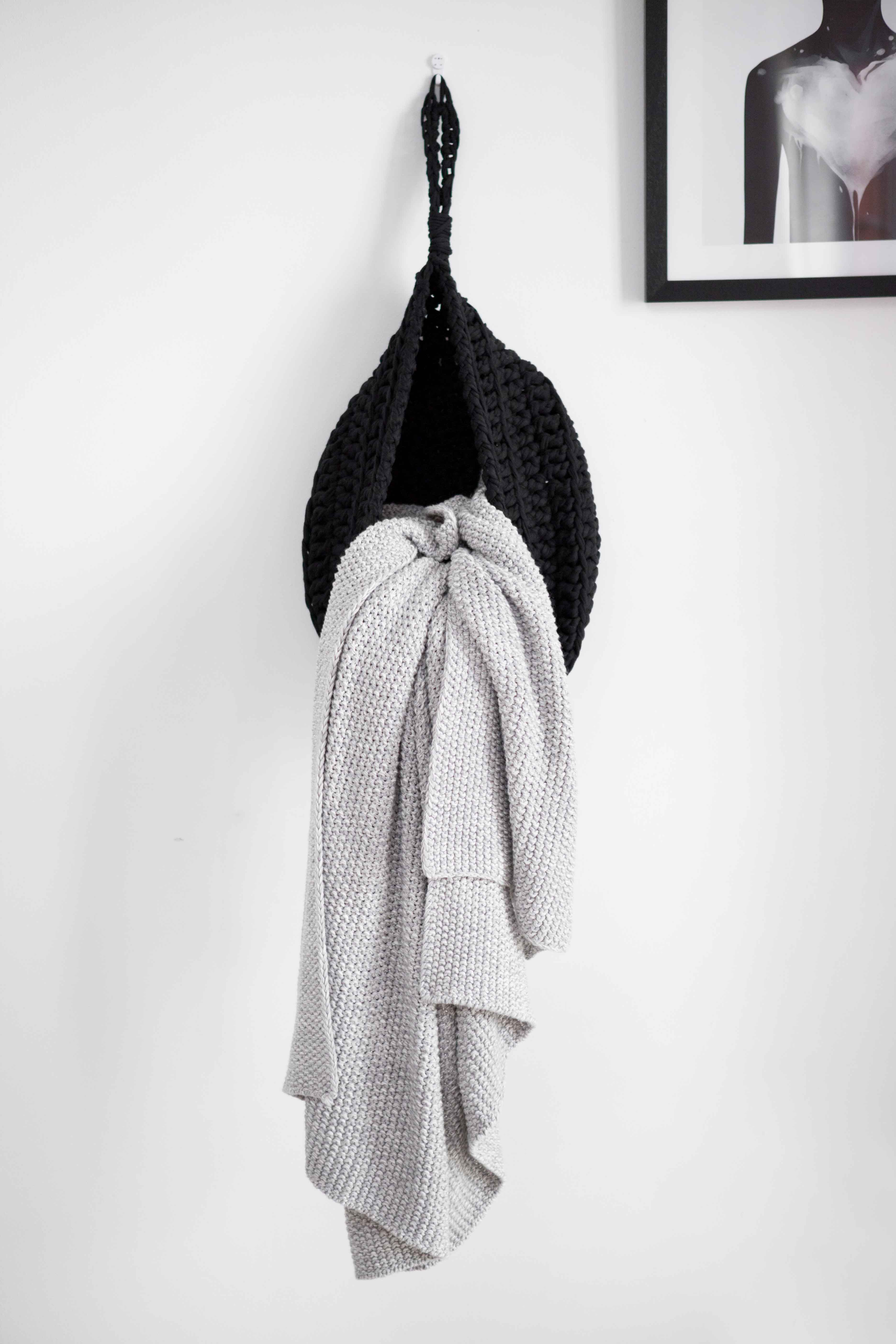 decor scandi hangers picture basket product small crochet home decorative hanging