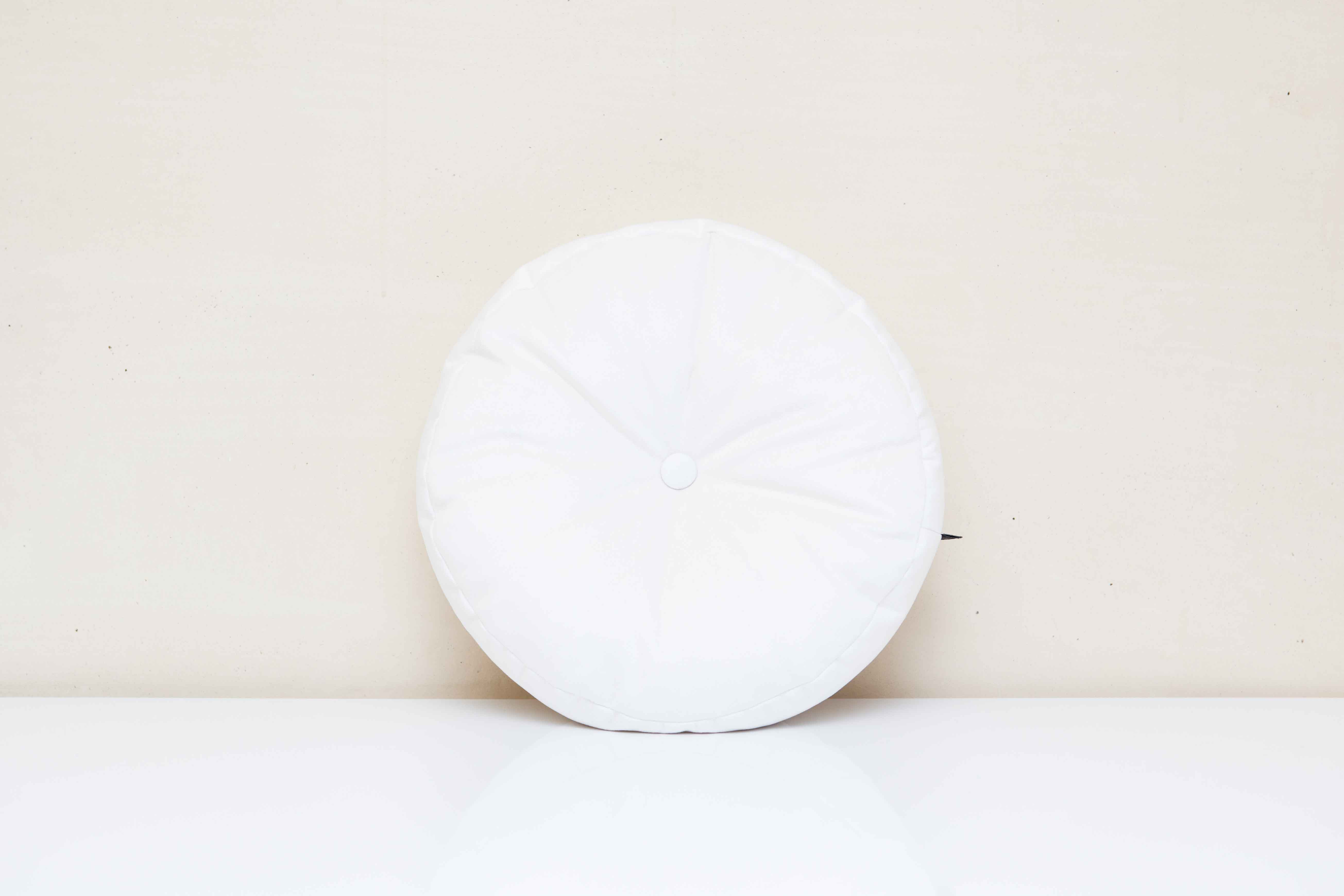 Luxe Round Button Scatter Cushion Scandi Home Decor